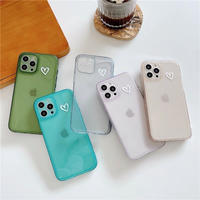 White heart simple color iphone case