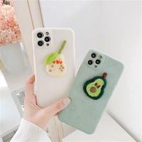 Pear avocado winter iphone case