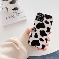 Milk cow pattern simple iphone case