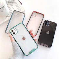 Metal color side clear iphone case