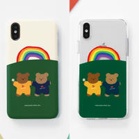 Rainbow garden bear hard/clear case 565