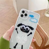 Black sheep white side iphone case