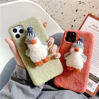 Penguin doll fur iphone case