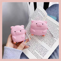 Pink pig airpods case