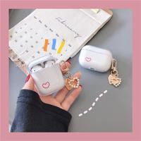 One red heart clear keyring airpods case