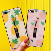 Peach pineapple black band  iphone case