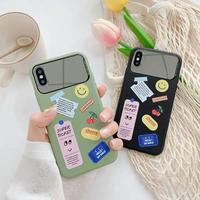 Sticker green black mirror iphone case