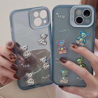 Lovely blue bear iphone case