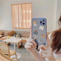 Bluegrey cafe color side iphone case