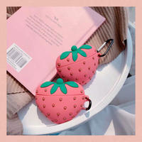 Strawberry heart airpods case