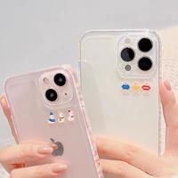 Duck bear line clear iphone case