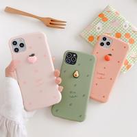 Peach avocado orange iphone case