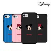 [Disney] Mickey minnie face matt card slide case