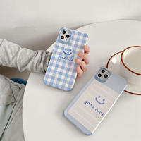Good luck smile blue iphone case