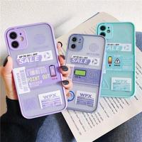 Battery label color side iphone case