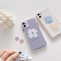 One two flower color side iphone case