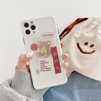 Bear letters white iphone case