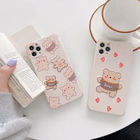 Love bear embroidered iphone case