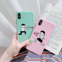 Heart beam boy girl iphone case