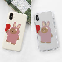 Couple pajama hard/clear case (rabbit) 279