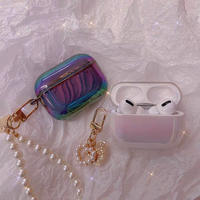 Hologram pearl keyring airpods case