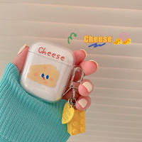 Cheese clear airpods case