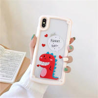 Dinosaur peach side iphone case