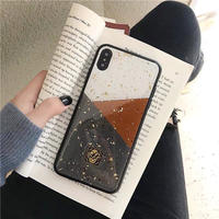Grey brown block iphone case