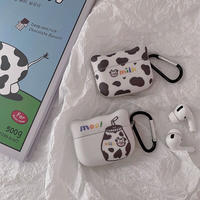 Moo milk pattern airpods case