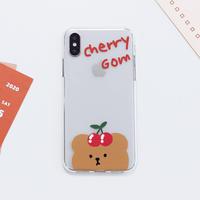 Cherrycherry bear clear case