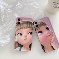 Cartoon girl iphone case