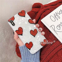 Big red heart shell iphone case