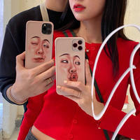 Weird face iphone case