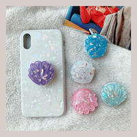 Glitter shell grip for phone