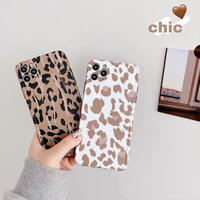 Leopard white brown iphone case