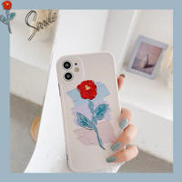 One red flower iphone case