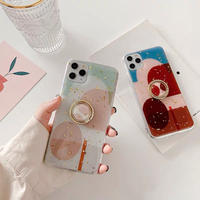 Red white pattern with grip iphone case