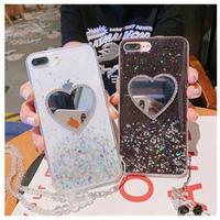 Gitter heart mirror iphone case
