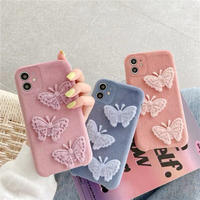Butterfly fabric iphone case