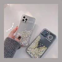 Luckyday glitter quicksand iphone case