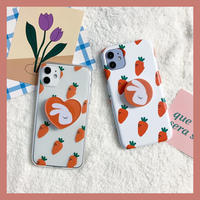 White rabbit carrot with grip case