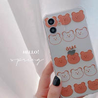 Bear brown clear iphone case