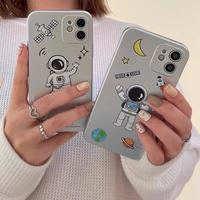 Astronaut silver iphone case