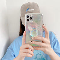 Cartoon character hologram  glitter iphone case
