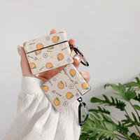 Orange pattern airpods case