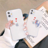 Mouse cat cupid clear iphone case