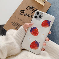 Strawberry white flower iphone case