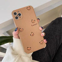 Brown little ribbon iphone case