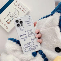 Bear drawing white iphone case