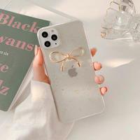 Metal ribbon glitter iphone case